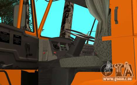 KAMAZ 6520 ciment pour GTA San Andreas vue arrière