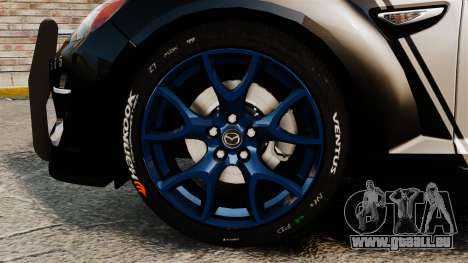 Mazda RX-8 R3 2011 Police pour GTA 4 Vue arrière