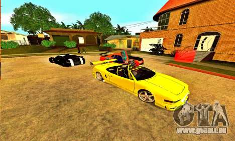 Infernus Cabrio Edition für GTA San Andreas zurück linke Ansicht