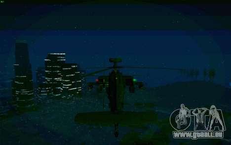 AH-64 Apache pour GTA San Andreas vue arrière
