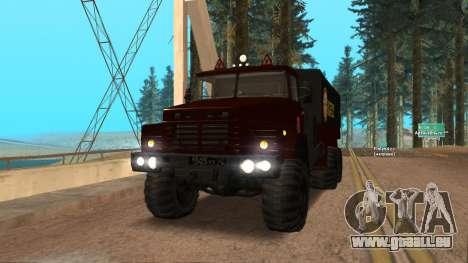 Lastwagenfahrschule v. 2.0 für GTA San Andreas Rückansicht