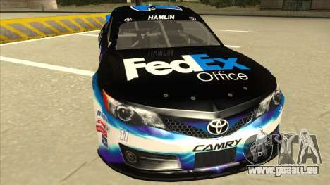 Toyota Camry NASCAR No. 11 FedEx Office für GTA San Andreas linke Ansicht