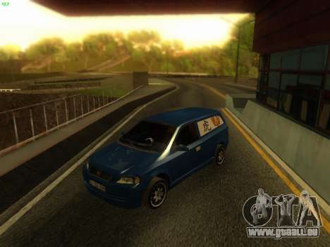 Opel Astra G Caravan Tuning pour GTA San Andreas sur la vue arrière gauche