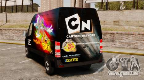 Mercedes-Benz Sprinter Tom and Jerry für GTA 4 hinten links Ansicht