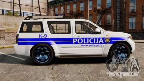 Nissan Pathfinder Croatian Police [ELS] pour GTA 4 est une gauche