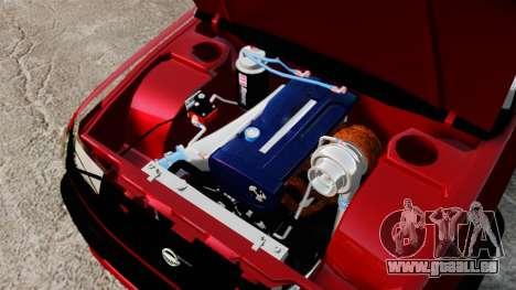 Nissan Frontier D22 pour GTA 4 est une vue de l'intérieur