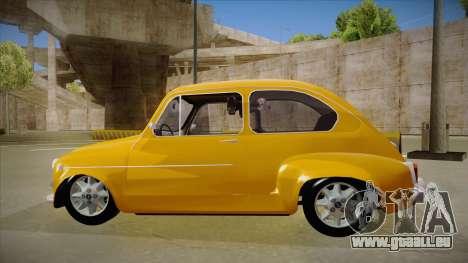 Zastava 750 pour GTA San Andreas sur la vue arrière gauche