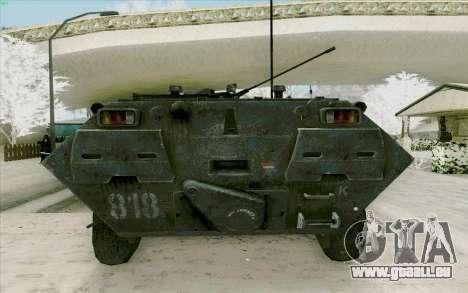 BTR-80 pour GTA San Andreas vue intérieure