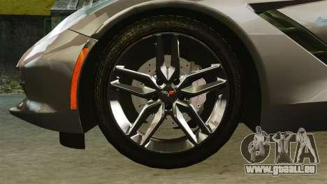 Chevrolet Corvette C7 Stingray 2014 pour GTA 4 Vue arrière