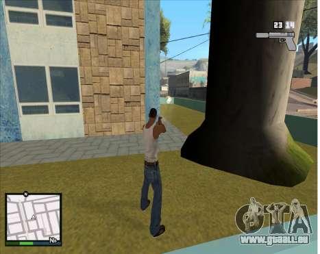 GTA 5 HUD pour GTA San Andreas