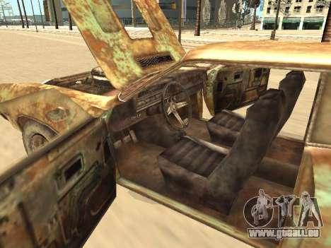 Ford Torino Rusty für GTA San Andreas Unteransicht