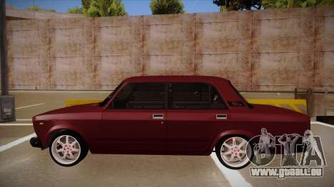 Lada 2107 für GTA San Andreas zurück linke Ansicht