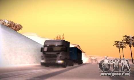 Scania R500 Topline pour GTA San Andreas vue de dessous