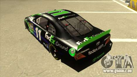 Toyota Camry NASCAR No. 11 FedEx Ground für GTA San Andreas Rückansicht