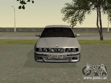 BMW 525I pour GTA San Andreas laissé vue