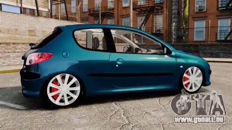 Peugeot 206 für GTA 4 linke Ansicht