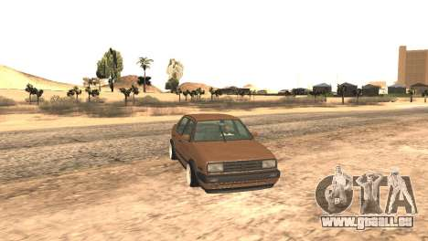 Volkswagen Jetta MK2 pour GTA San Andreas vue de droite