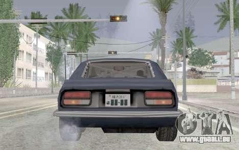 Nissan Fairlady Z AKUMA für GTA San Andreas Rückansicht