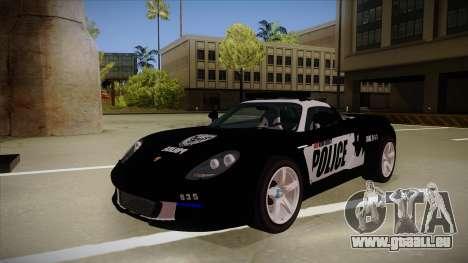 Porsche Carrera GT 2004 Police Black für GTA San Andreas