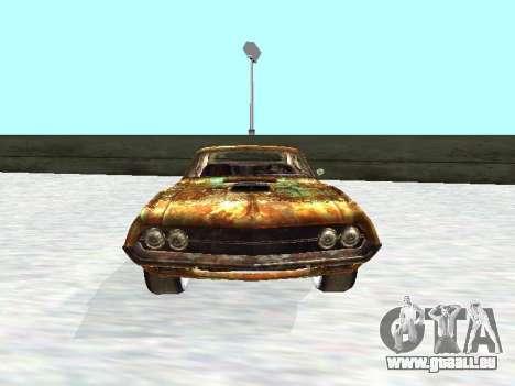 Ford Torino Rusty für GTA San Andreas Rückansicht
