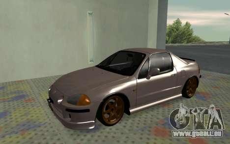 Honda CRX DelSol TMC pour GTA San Andreas