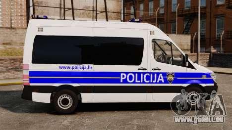Mercedes-Benz Sprinter Croatian Police [ELS] pour GTA 4 est une gauche