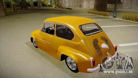 Zastava 750 für GTA San Andreas Rückansicht