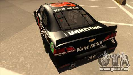 Chevrolet SS NASCAR No. 78 Furniture Row für GTA San Andreas Rückansicht