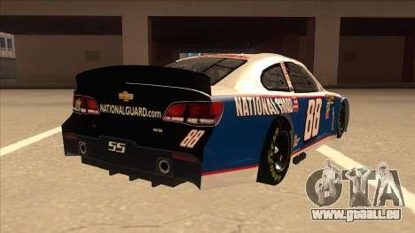 Chevrolet SS NASCAR No. 88 National Guard pour GTA San Andreas vue de droite