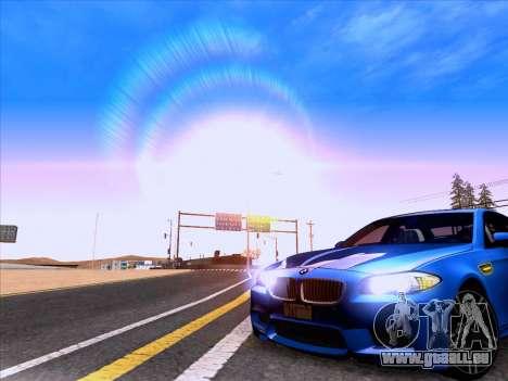 BMW M5 F10 2012 Autovista für GTA San Andreas rechten Ansicht