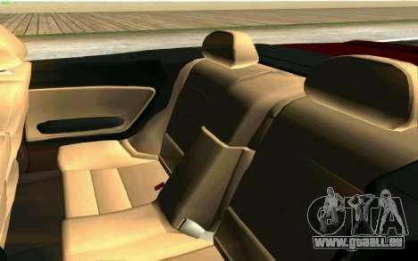 BMW M3 Cabrio für GTA San Andreas Unteransicht