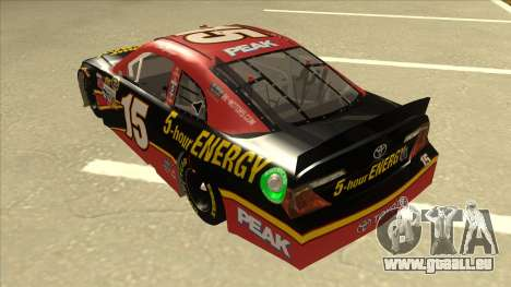Toyota Camry NASCAR No. 15 5-hour Energy pour GTA San Andreas vue arrière