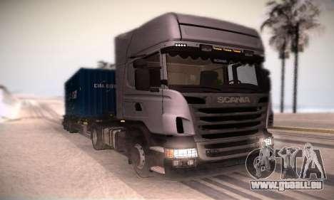 Scania R500 Topline pour GTA San Andreas laissé vue