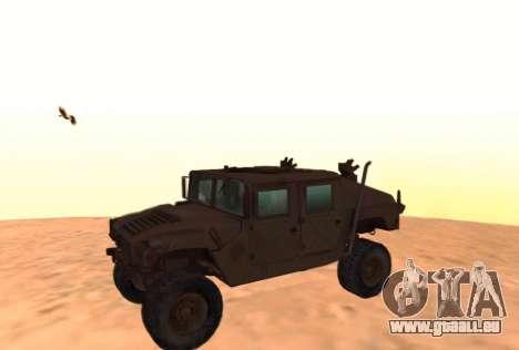 Hummer H1 de la jeu Resident Evil 5 pour GTA San Andreas laissé vue