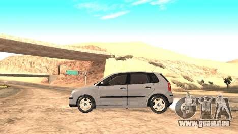 Volkswagen Polo 2.0 2005 pour GTA San Andreas sur la vue arrière gauche