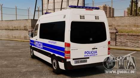 Mercedes-Benz Sprinter Croatian Police [ELS] pour GTA 4 Vue arrière de la gauche