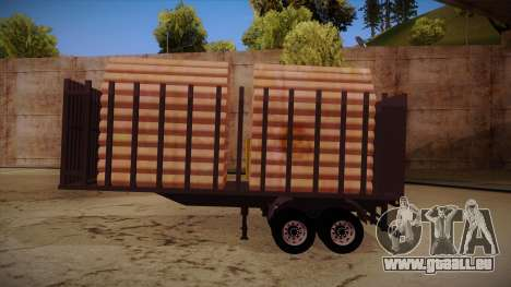 Camion semi-remorque bois pour MB 2644 trem fren pour GTA San Andreas