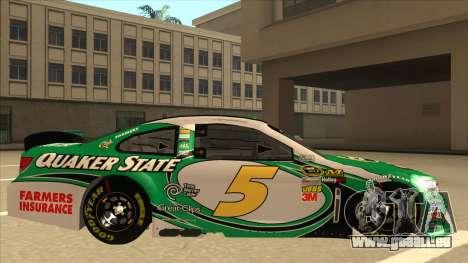 Chevrolet SS NASCAR No. 5 Quaker State pour GTA San Andreas sur la vue arrière gauche