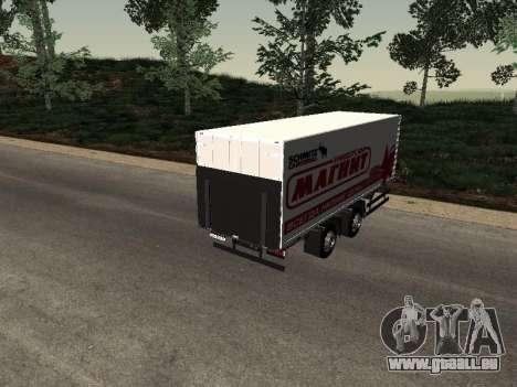Trailer Mann Magnet für GTA San Andreas linke Ansicht