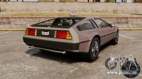 Compteur de vitesse DeLorean DMC-12 pour GTA 4 troisième écran