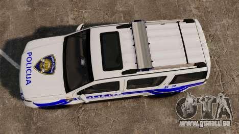 Nissan Pathfinder Croatian Police [ELS] pour GTA 4 est un droit