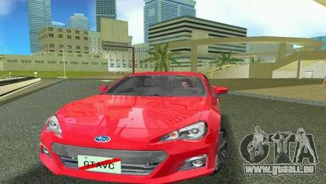 Subaru BRZ Type 1 pour une vue GTA Vice City de la gauche