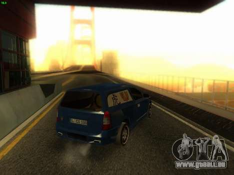 Opel Astra G Caravan Tuning pour GTA San Andreas laissé vue