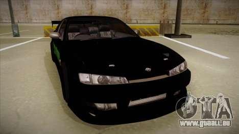 Nissan s14 200sx [WAD]HD pour GTA San Andreas laissé vue