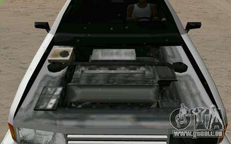 Manana Hatchback pour GTA San Andreas vue de dessus