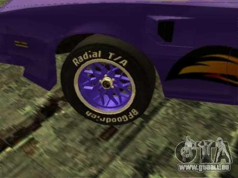 Pontiac Firebird Overhaulin pour GTA San Andreas vue de droite