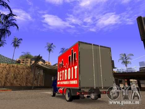 2310 Gaz sable LT pour GTA San Andreas sur la vue arrière gauche
