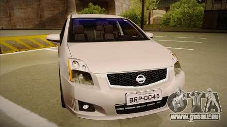 Nissan Sentra S 2008 pour GTA San Andreas laissé vue