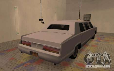 Limousine Driver Parallel Lines von für GTA San Andreas zurück linke Ansicht