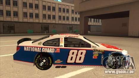 Chevrolet SS NASCAR No. 88 National Guard für GTA San Andreas zurück linke Ansicht